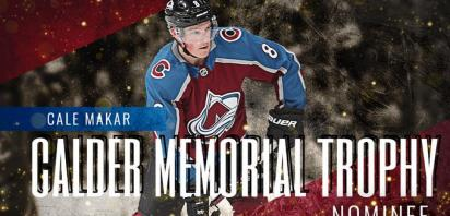 Cale Makar up for NHL Rookie of the Year