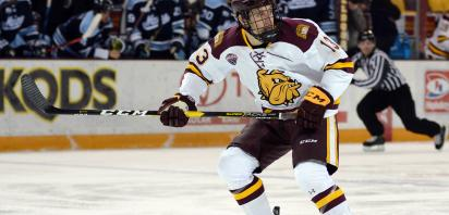 Tanner Laderoute shines in NCHC Frozen Faceoff championship win