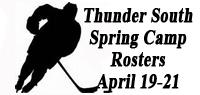 Thunder South Camp Rosters and Itinerary