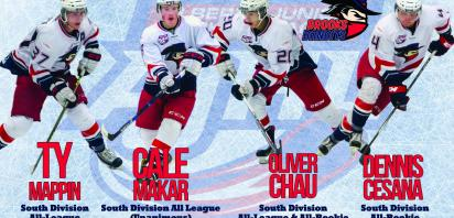 Bandits take five spots on AJHL All-League & All-Rookie Teams