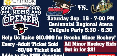 Bandits to raise thousands for minor hockey at home opener Saturday