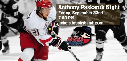 Anthony Paskaruk to be inducted into Bandits Wall of Fame on Friday