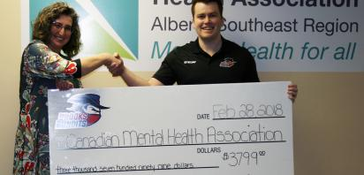 Brooks Bandits donate $3,799 to the Canadian Mental Health Association