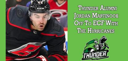 Thunder Alumni Jordan Martinook Off To ECF