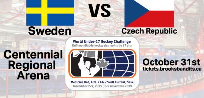 Brooks, Alberta to host Sweden vs. Czech Republic in World Under-17 Action