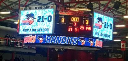 VIDEO: Bandits set league record with 21-0 start, beating Camrose 8-3