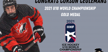 Bandits' Ceulemans Wins Gold Medal at U18 World Championship