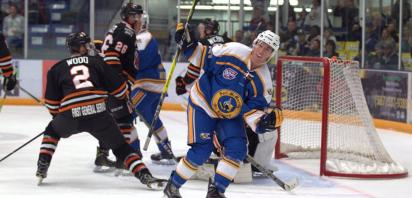 Oil Barons slip by Bobcats 2-1