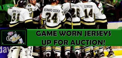 Game Worn Jersey Auction - OPEN for PLAYOFFS