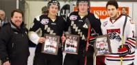 PONTIACS Honor MCMANN, PASICHNUK and NARDI Before the Game