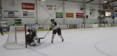 OLDS GRIZZLYS GREASE OKOTOKS OILERS  FOR NAIL BITER, DOUBLE OVERTIME, SHOOTOUT WIN