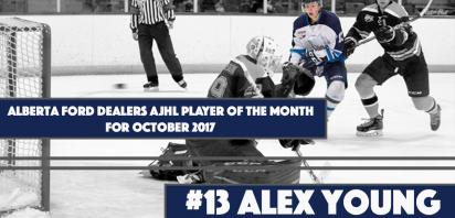 Alberta Ford Dealers AJHL Player of the Month: Alex Young