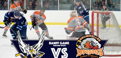 BANFF GAME - Mischief Night - Canmore Eagles vs. Drumheller Dragons