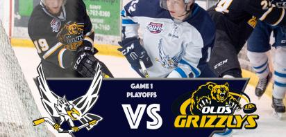 PLAYOFF GAME 1 - Canmore Eagles vs. Olds Grizzlys
