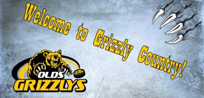 Carstairs stand out signs with Grizzlys